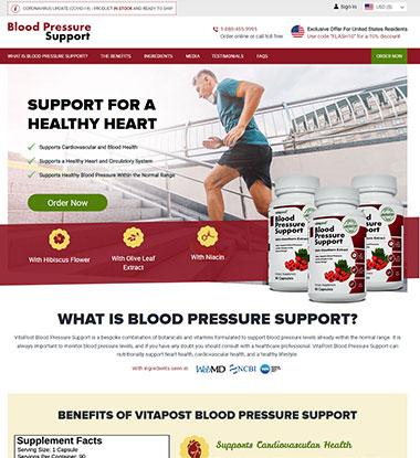 Blood Pressure Support Logo